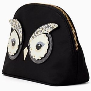 NWT KATE SPADE Star Bright Owl Marcy Makeup Bag